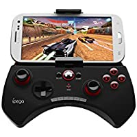 iPega PG-9025 Joypad Bluetooth, supporto telescopic, per Smartphone e Tablet (Android e iOS), Nero