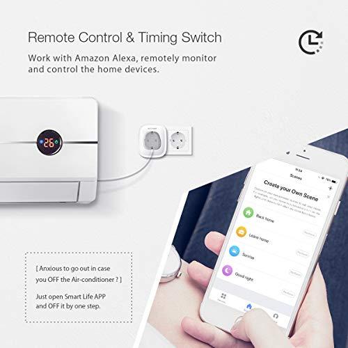 Smart Plug Wifi [2-Pack ], BlitzWolf Presa Intelligente Compatibile con Amazon Alexa, Google Home e IFTTT, Controllo Remoto da APP & Funzione di Temporizzazione