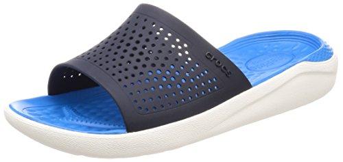 crocs Unisex-Erwachsene Literide Slide Sandalen, Blau (Navy/White 462), 45/46 EU