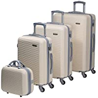 تشاليش حقائب سفر بعجلات للجنسين 4 قطع ، بيج