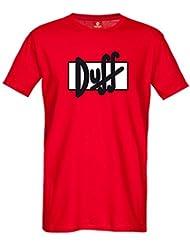 Los Simpsons - Camiseta Duff - Rojo
