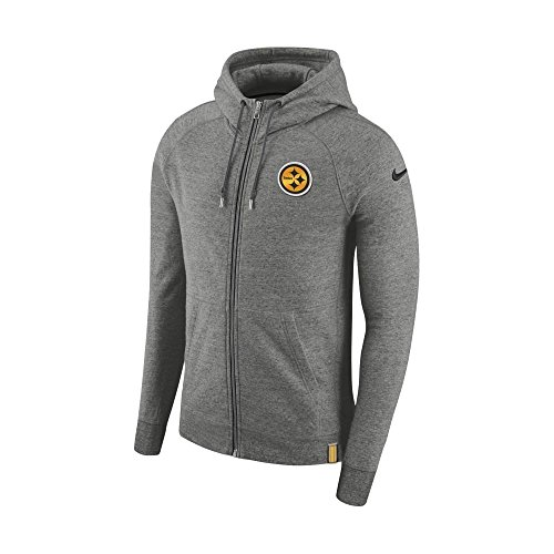Nike NFL Pittsburgh Steelers AW77 FZ Hood Small (Fz Hood)