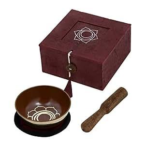 Sakral-Chakra Palm Size Tibetische Meditation Singing Bowl Durchmesser 8,65 CM