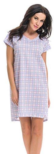 dn-nightwear -  Camicia da notte  - Donna Grigio/Rosa
