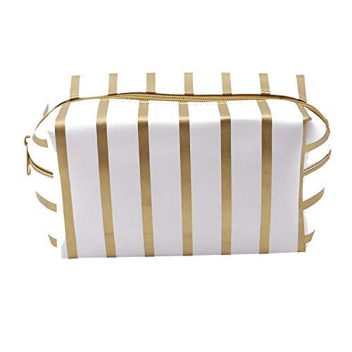 Kosmetiktasche für Damen, PVC, tragbar, Mini-Geldbörse, Reise, Kulturbeutel, Kosmetiktasche, Organizer gold gold