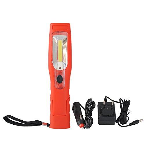 3W COB LED Arbeitsleuchte Akku Werkstattlampe Handlampe Schwenklampe Stablampe