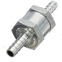 10 mm 12 mm Benzin 8 mm 2 St/ück Aluminiumlegierung 6 mm R/ückschlagventil f/ür Wasser silber Diesel/öle Fahrzeug-R/ückschlagventil Senrise Einwege-Ventil