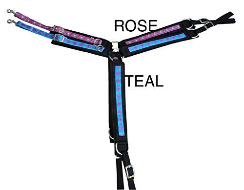 Amesbichler Weaver Western Vorderzeug Diamonte Nylon Filz unterlegt, Rose