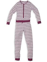Moonline - Jumpsuit für Kinder, weicher Onesie für Mädchen und Jungen - ideal als Schlafanzug (aus Baumwolljersey und mit Knopfleiste)