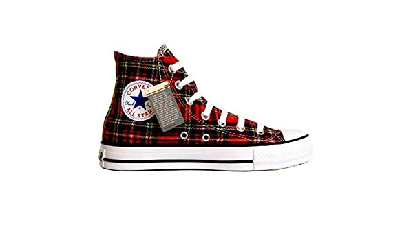 d8125ae958 Converse All Star scozzese Ska Chuck Red/Tartan Hi 1q455 misura 41,5 (UK:  8): Amazon.it: Sport e tempo libero