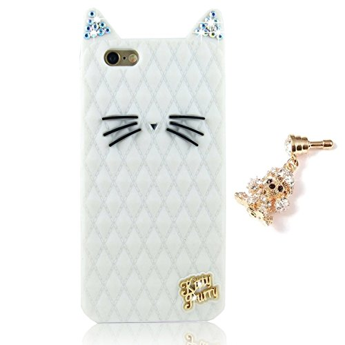 Custodia Cover per Apple iphone 6 Plus / 6S Plus 5.5, Sunroyal® 3D Cartone Copertura Shell in silicone Gel Kitty Gatto Carina Protettiva Soft Morbido Hybrid Rubber Bumper Case Protector + anti-dut pl Cat09
