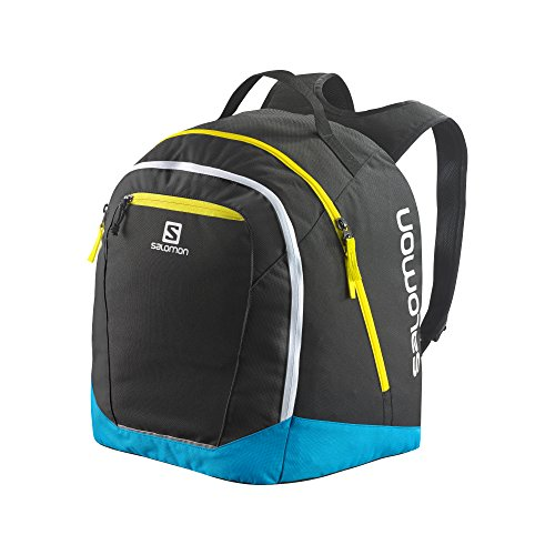 Salomon Original Gear Mochila, Unisex, Black/Cyan Hexachrome/Corona Yellow