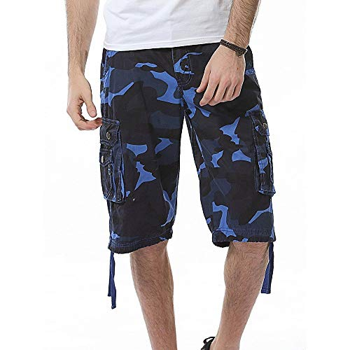 Lannister Fashion Kurz Hose Arbeitshose Arbeitsshorts S Sommer Schutzhose Sicherheitshose Arbeitsbekleidung Tarnung Festlich Bekleidung 5XL (Color : Bu, Size : L)