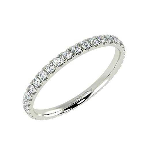 0.50Ct Round Diamond Micro Pave Set Full Eternity Ring for Women's in White Gold Size L