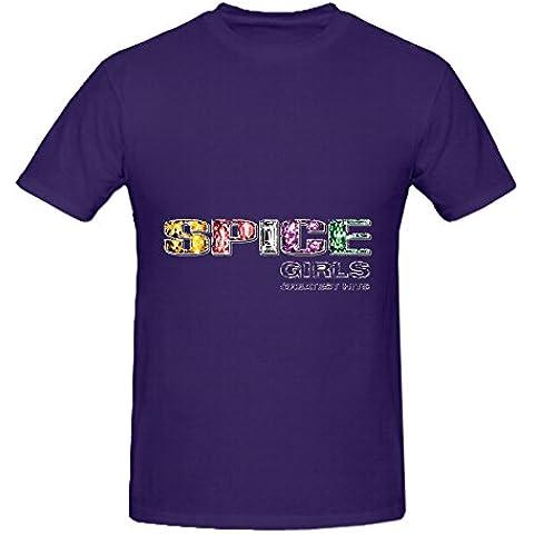 Spice Girls Greatest Hits Pop Album Cover Mens Crew Neck 100 Cotton T Shirt XXXX-L