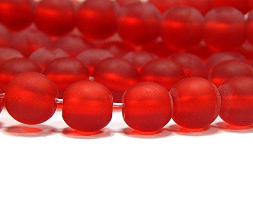 n ROT KUGELN 8mm Matt Strange Vereist Perle zum fädeln für DIY Schmuck Herstellung R92 (Ninjago Ware)