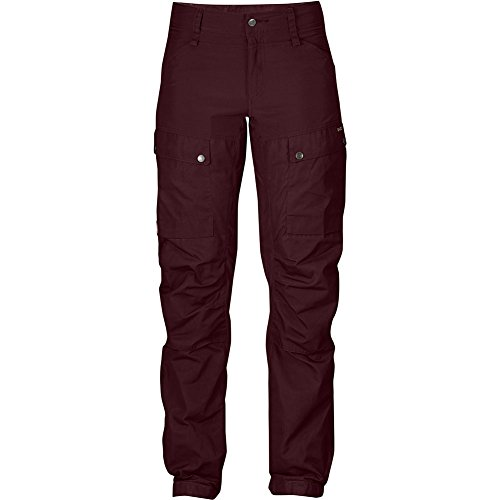 Fjällräven Damen Keb Trousers W Short Lange Hosen Dark Garnet