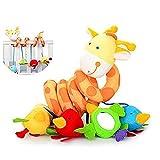 Mystery&Melody Baby Kinderwagen Hängen Spielzeug Bett Hängen Musik Bett Ornamente Bedside Wind Chimes Lernspielzeug (Giraffe)
