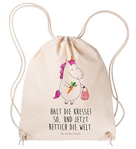 Mr. & Mrs. Panda Sportbeutel Einhorn Gemüse - 100% handmade in Norddeutschland - Einhorn, Einhörner, Unicorn, Biomarkt, Bio, Gemüse, Wochenmarkt Sportbeutel, Gymsack, Hipster, Turnbeutel, Jutebeutel, Sporttasche, Tasche, Tragetasche