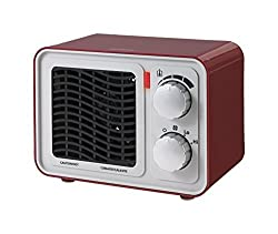 Sunbeam SFH5264MR-UM Retro Radio Heater Fan, Small, Red