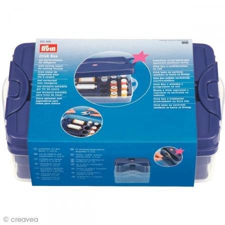 Prym 612406 Click Box mit Sortiereinsatz für Nähgarne