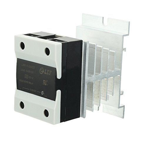 ZCHXD LSR1-1-240DD 40A DC to DC 5-32VDC to 12-250VDC SSR Thermal Compound Solid State Relay + Heat Sink - Dc Thermal