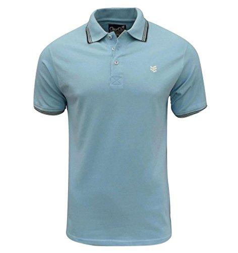Gio-Goi Men's Paco Polo T Shirt Blue