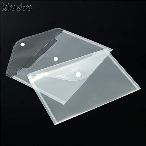 CCChaRLes 12Pcs Portadocumenti Trasparenti In Plastica Per Documenti Portafogli File Archiviazione Archiviazione Carta