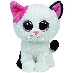 TY - Muffin, peluche gato, 15 cm, color blanco (36086TY)