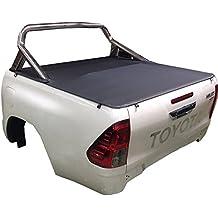 Toyota Hilux doble cabina rígida suave Tonneau, Fits Factory deporte bares