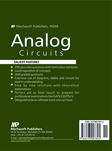 Analog Circuits DRILL (200 plus New Questions with Meticulous Solutions) for GATE/ESE-2018