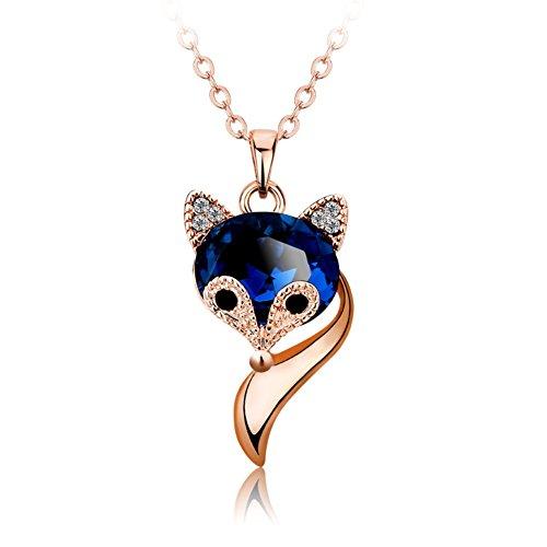 bel ciondolo cristallo Fox/ catene di clavicola/Accessori moda collana semplice corto-A