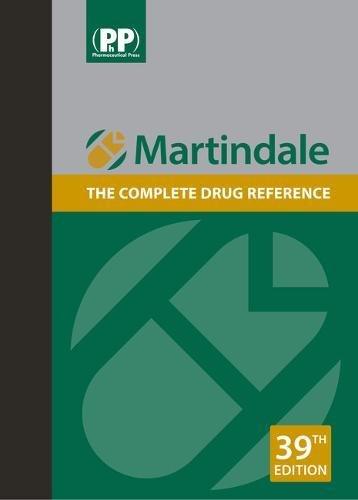 Martindale: The complete drug reference por BRAYFIELD  ALISON