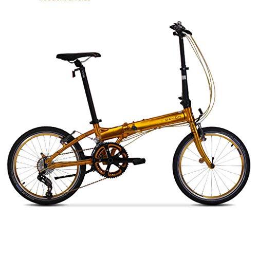 Folding Bikes Bicycle folding bicycle unisex 20 inch wheel ultra light portable adult bicycle