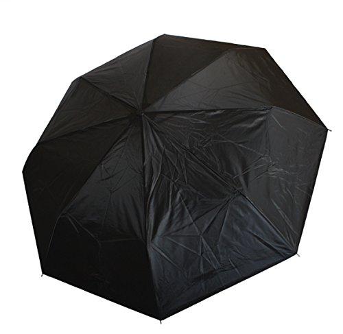 Sonia Originelli Regenschirm Taschenschirm kompakt hochwertig Regen Umbrella SCHIRM1 (Schwarz)