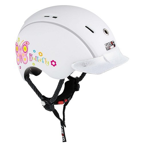 Casco Kinder Helm Mini Generation Schmetterling-Weiß, S(50-55 cm)