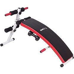SportPlus Banco de Sentadillas - Banco Plegable Fitness - Incluye 2 Mancuernas de 1.5 Kg - Plegable