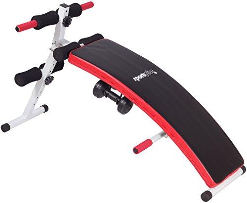 SportPlus Sit-Up Bank inkl. 2 x 1,5kg Hanteln, zusammenklappbar, Benutzergewicht bis 120kg, SP-SUB-001-W