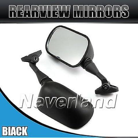 metebu (TM) 2pcs universale Moto specchietto retrovisore laterale Vista posteriore Specchio per Honda CBR 929RR 2000–2001CBR 954RR 2002–2003C10