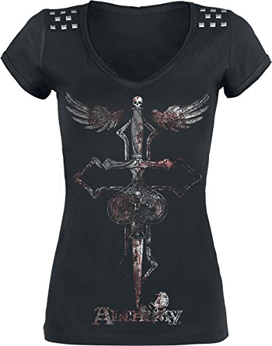 Alchemy England Cross Dagger Maglia donna nero S