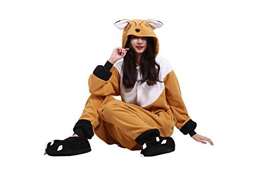 Imagen de yuwell onesie anime kigurumi cosplay animales trajes disfraz pijamas pyjamas ropa de dormir, zorro anaranjado l height 170 180cm  alternativa
