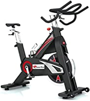 PowerMax Fitness Unisex Adult BS-2500C Heavy Commercial Group Bike - Red/Black, One Size