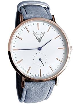UHRTRACHT - Uhr in rosé mit Wildleder, verschiedene Varianten mit Quick Release - passend zur Tracht und im Alltag...