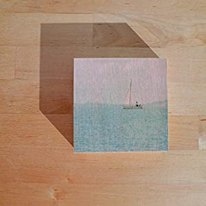 Fotografie auf Holz I Holzdruck I Fotokunst I Geschenk I Ostsee I Segelboot I Claudia Drossert