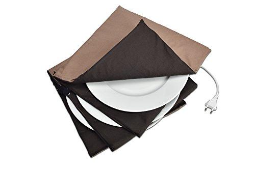 Solis Tellerwärmer, Bis 10 Teller mit 32 cm Durchmesser, Waschbar, Automatische Wärmeregulierung, Maxi Gourmet Tellerwärmer, Taupe/Anthrazit
