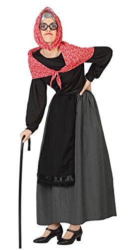 Kostüm einer alten Frau XL (Dame Alte Kostüm Brille)