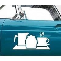 myDruck-Store Car Sticker Coffee Jug Coffee Decoration Car Sticker Car Adhesive Tattoo 5Q632 - Dark Green Matte, 55cm
