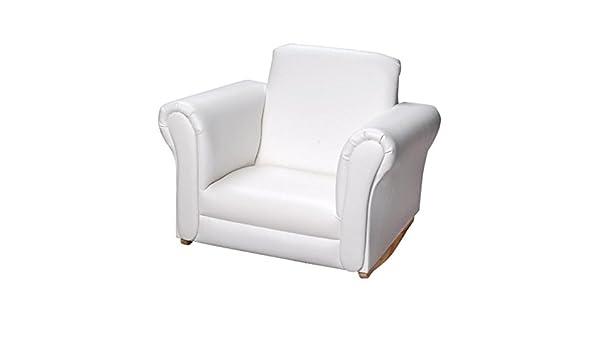 Gift mark upholstered sedia a dondolo bianco: amazon.it: casa e cucina