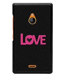 FUSON Designer Back Case Cover for Nokia XL (Love Life Forever Hearts Real Love True Lovers Valentine)