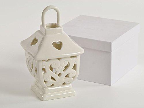 Bomboniera matrimonio sposi nozze lanterna porcellana box dgs50187